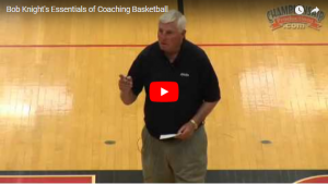 Basketball Coaching Bob Knight