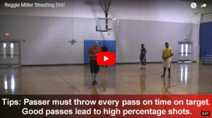 Basketball Drills Reggie Miller and Larry Bird Shooting