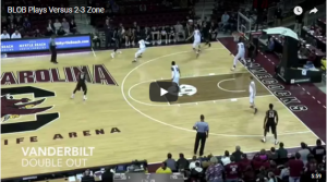 Basketball Plays: 21 Zone Baseline Inbounds Plays