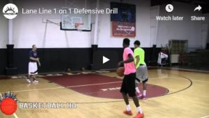 Basketball Drills: Lane One on One
