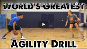 Split the Circle Basketball Agility Drill
