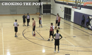Choking the Post Defensive Drill