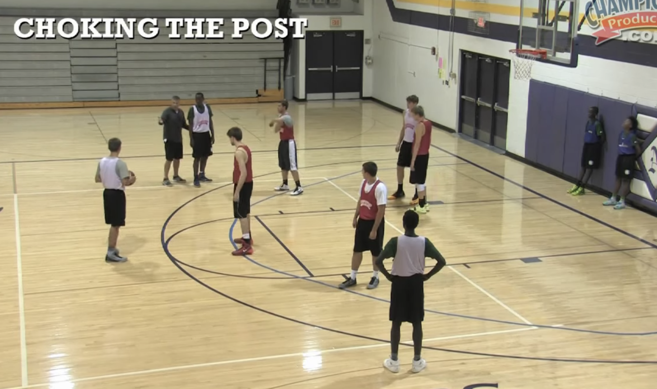 Choking the Post Defensive Drill -