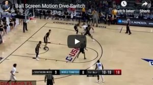 Ball Screen Motion Dive Switch