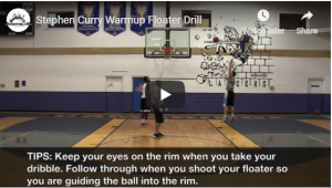 Stephen Curry Warmup Floater Drill