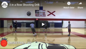 Basketball Drills 3 in a Row Toughness Shooting