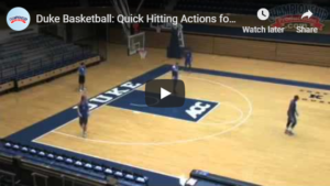 Basketball Plays Duke Down Set