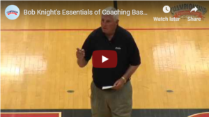33 Basketball Coaching Points from Bob Knight