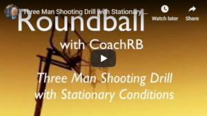 Basketball Drills Three Player Shooting with Conditions