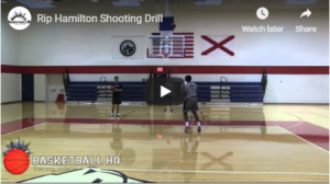 Basketball Drills: Rip Hamilton Shooting