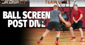 Ball Screen Post Dive Shooting Drill
