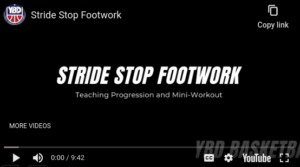 Youth Basketball: Stride Stop Footwork