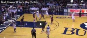 Butler U Zone Play Brad Stevens